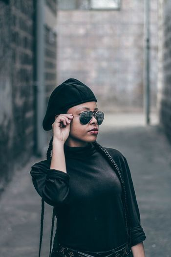 Africa Fresh On Eyeem  EyeEm Best Shots EyeEm Teenager Beautiful Moody Fresh On EyeEm 2018 Streetphotography Sunglasses Adult One Woman Only Only Women Casual Clothing Adults Only People Portrait Fashion Standing Front View One Young Woman Only Women Human Lips Outdoors Young Adult