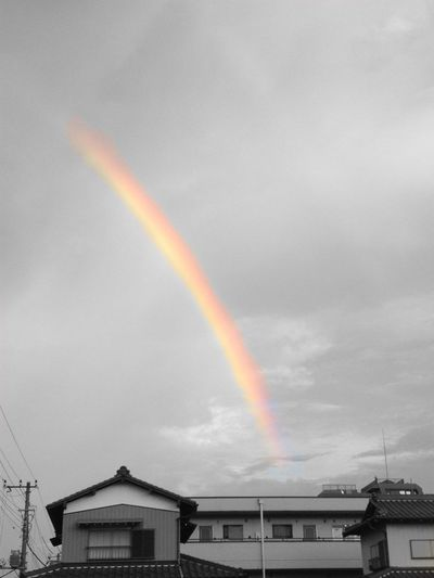 Rainbow Japan Natural Beauty Sky Sevencolors After The Rain Lookupthesky Captured Moment Somewhere Overtherainbow