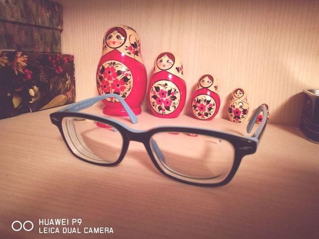 EyeEm Selects Eyeglasses  Red Indoors  Matrioska