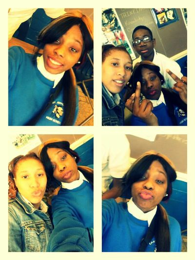 Me & The Homiess . Chillin Yesturday ! Fuck Wit It.