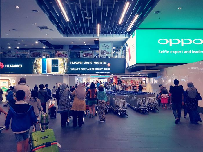 Airport Mobility In Mega Cities People Large Group Of People Adult City Architecture Indoors  Adults Only