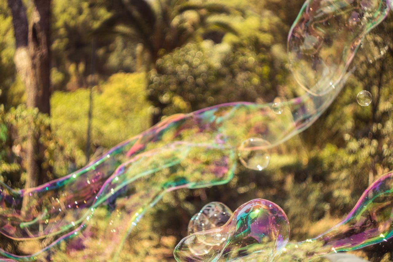 Multi Colored Bubbles At Park