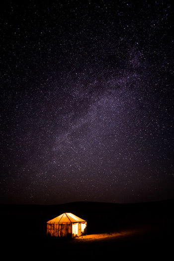 Starry Night Desert Astronomy Star - Space Constellation Rural Scene House Sky Building Exterior Star Field First Eyeem Photo