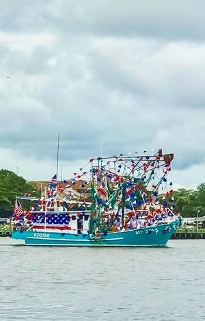 Happy Independence Day, let freedom ring! Sea Nautical Vessel Day Transportation Beach Outdoors Moored Nature No People Water Sky USA USA FLAG Flag Celebration Red White And Blue Party Proud Proud To Be An American July4th Patriotism Freedoom  Pride Blue Boat Boat