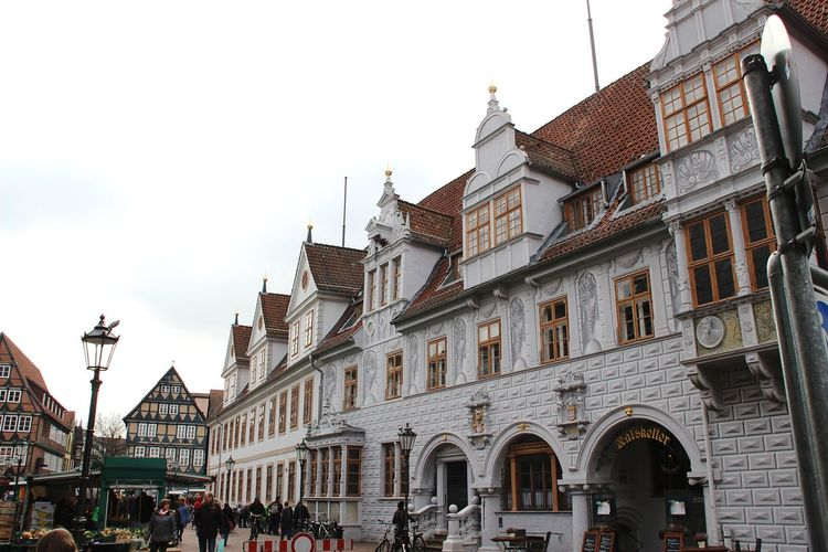 Celle Rathaus Building Exterior Architecture Cultures Sky City Day Travel Destinations Architecture Built Structure Fachwerkhäuser Fachwerk