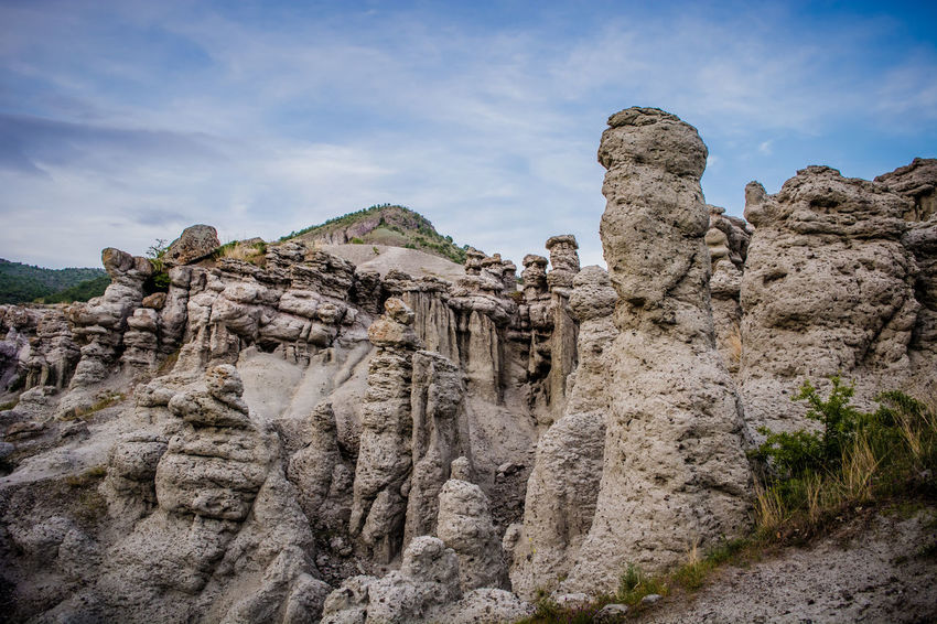 Petrified Blue Clouds Dog Explore Formation Green Hike Kuklica Landscape Legend Macedonia Monument Mountain Nature Old People Petrified Pillars Places Rock Formation Rocks Sky Stone Sunset Travel