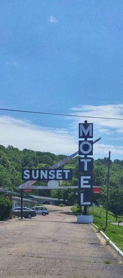 Athens Ohio Hocking Hills Rural Photography Rurex Rural America Hotel Motel Sign Motel Sign Roadside Blue Sky
