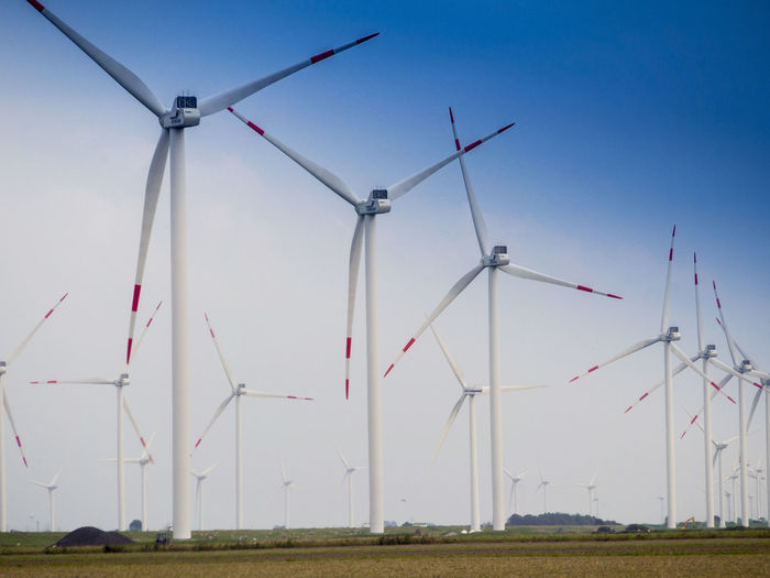 Germany Wind Turbine Turbine Renewable Energy Fuel And Power Generation Alternative Energy Wind Power Environment Environmental Conservation Sky Landscape Land Field Nature Rural Scene No People Grass Technology Clear Sky Day Outdoors Sustainable Resources