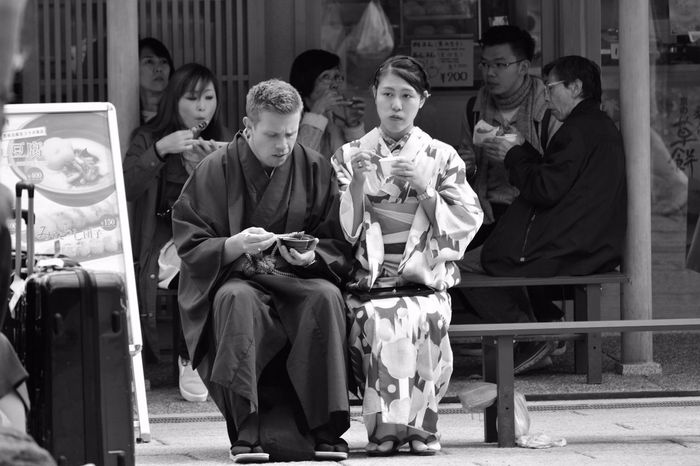 Feel The Journey Kyoto Taking Photos B&w Gaijin Geisha Japan Japanese Culture Kyoto,japan Streetfood Streetfood Worldwide Blackandwhite