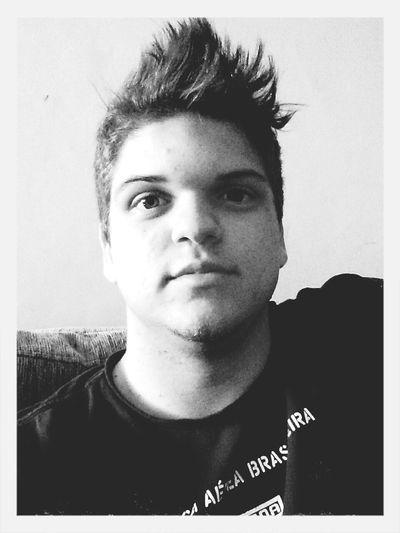 Self Portrait Selfie Mohican Bw