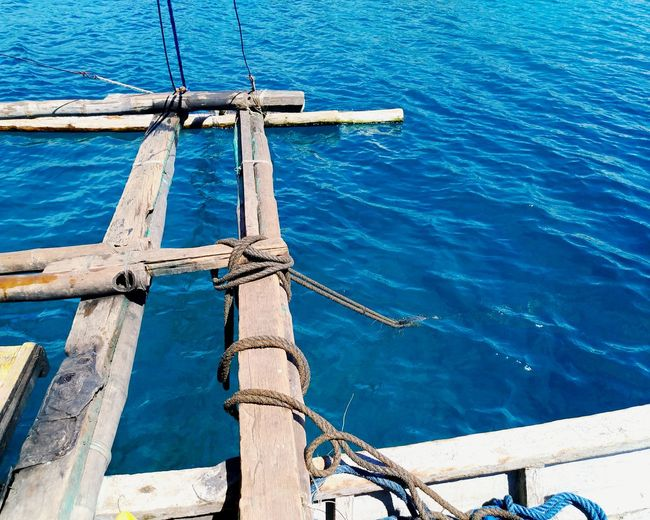 Bluer than blue Dive Diving Philippines Beach Boat Banka Blue Islandlife Island EyeEm Selects Water Day Outdoors Sea Blue No People Nautical Vessel Nature Sailing Ship