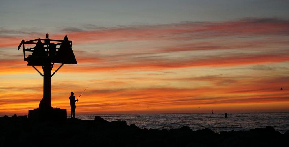 Sunset on a beautiful beach. Sunset Sea Silhouette Horizon Over Water Dramatic Sky Beach Sky Dusk Moss Landing, CA Cloud - Sky EyeEmNewHere