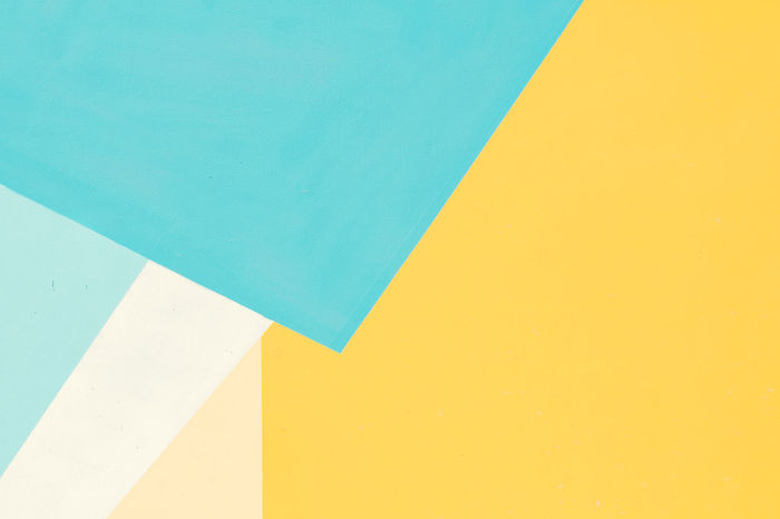 Abstract Architecture Art And Craft Art And Craft Equipment Backgrounds Blank Blue Built Structure Close-up Copy Space Craft Full Frame High Angle View Indoors  Multi Colored No People Paper Pattern Still Life Turquoise Colored Wall - Building Feature White Color Yellow