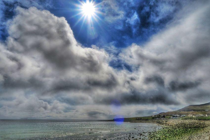 Sunburst over Keel West - Achill Island, Ireland - 24 April 2016 April2016 April 2016 Ireland Irish Coast Cloudporn Atlantic Ocean WestCoast Achill Achill Island Mayo Ireland Mayo County Mayo Dooagh Sunburst Enjoying The Sun Coastline Wildatlanticway The Great Outdoors With Adobe