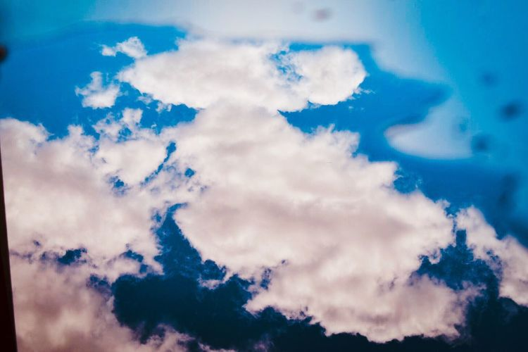 Sky looks more beautiful when seen on water surface Cloud - Sky Table Water Reflections No People Home Interior Indoors  Plain Surface Water Sunlight