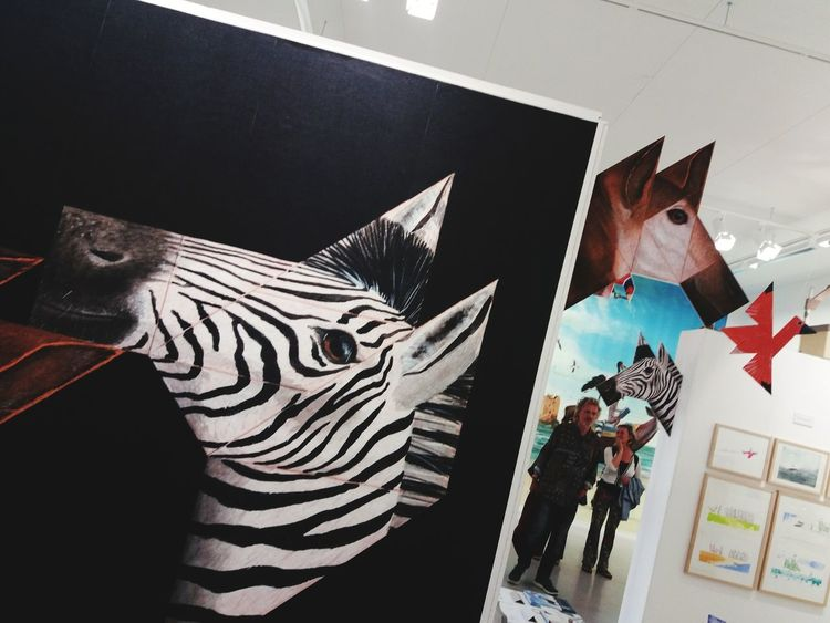 Tangram made by Martijn van der Linden , Tangram  EyeEm Selects Zebra Architecture Sky