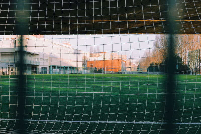 Net Green Color Urban Urban Perspectives Urban Photography Lifestyles Urban Scene Urban Life Soccer Field Goal Post Sport Playing Field Soccer Net - Sports Equipment Grass Green Color Soccer Goal Goal Yard Line - Sport Competitive Sport My Best Photo
