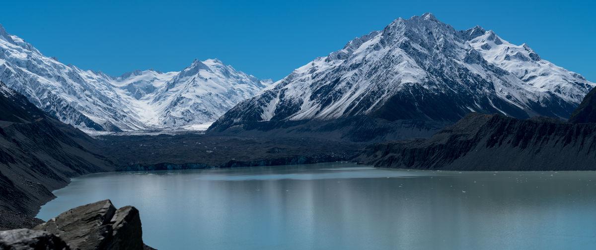 Blue Blue Sky Discover  EyeEm Nature Lover Farm Glacier Glacier Lake Lake Mountains Mt Cook Nature New Zealand Outdoor Outdoors Snow Capped Mountains Tasman Glacier