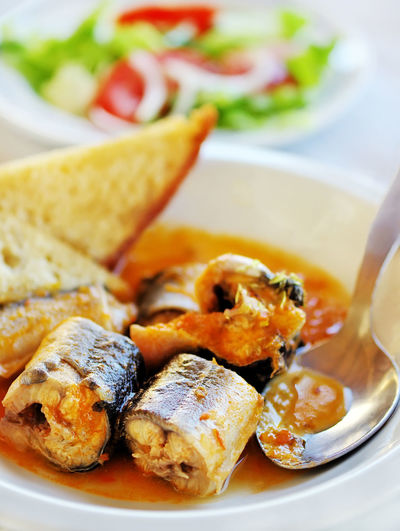 seafood of portuguese cuisine Seafood Bread Close-up Fish Food Food And Drink Meal Plate Portuguese Food Ready-to-eat Table