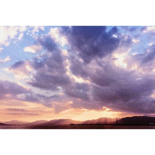 瀬戸内海 Sky Blue Sky Blue Orange Sky Clouds Sea Sunset Japan