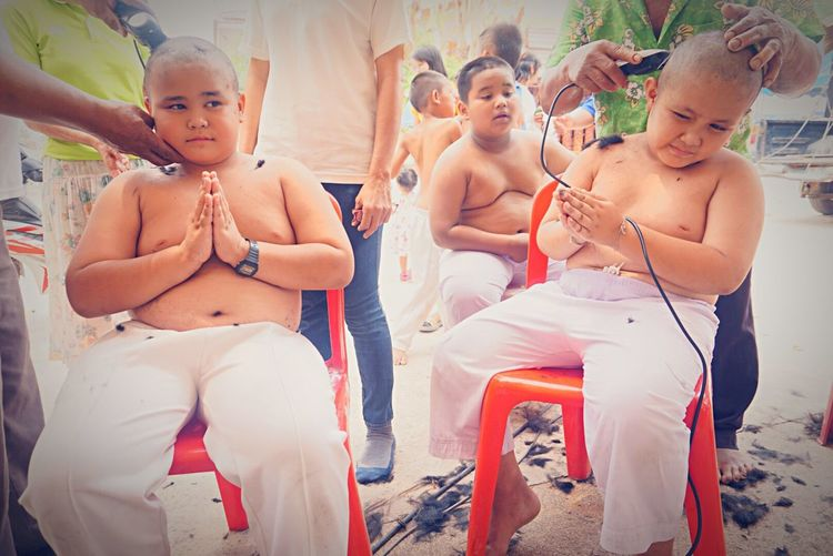 Become A Monkhood Novice Buddhism Haircuts Cute Religious Ceremony First Eyeem Photo