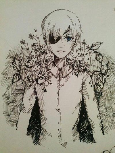 Art Sallon Kuroshitsuji  Ciel Phantomhive Drawing Anime Animelover ArtWork Picture Love Drawing ❤