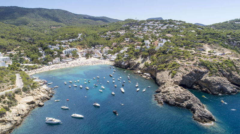 Beautiful Nature Drone  From Above  Ibiza Lost In The Landscape SPAIN Aerial Aerial View Aero Beach Bluewater Boats Cliff Day Dronephotography High Angle View Landscape Mountain Nature No People Rock - Object Sea Sea And Sky Summer Water