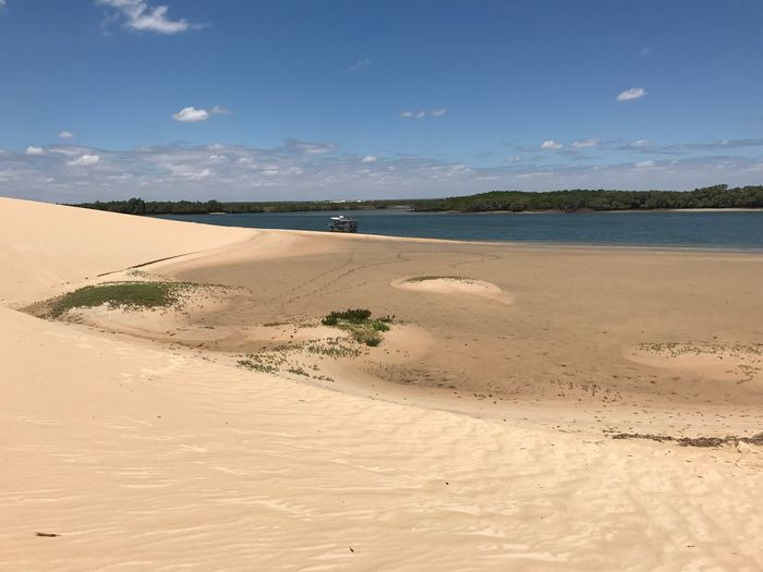 Sand Scenics Tranquil Scene Sand Dune Tranquility Nature Beauty In Nature Landscape Beach Sky Remote Day Outdoors Desert Arid Climate No People Water