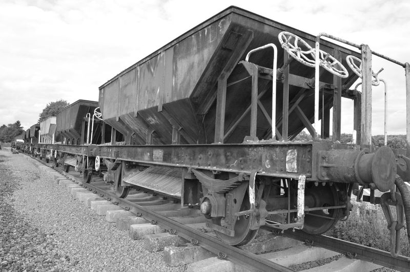 Railroad Track Rail Transportation Outdoors Train - Vehicle No People No Filter, No Edit, Just Photography Railway GWR Railroad Track Black And White Black And White Photography