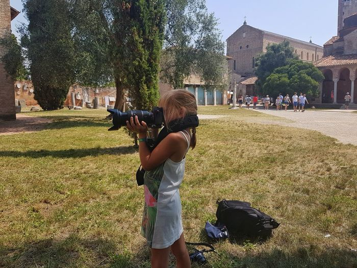 My oldest daughter making pictures with my camera 😊Tree Standing Outdoors Real People People Lifestyles Day One Person Girl Photography Leisure Activity Camera Child Summer Sun Vacation Tourism Tourist