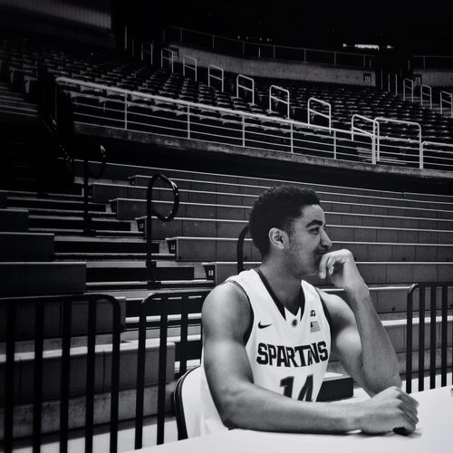 Garry Harris at MSU Basketball Media Day Spartans Michigan State Basketball Hipstamatic