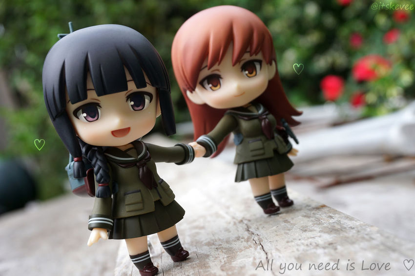 All you need is Love ♡ Lesbians Anime Outdoor Photography 艦コレ 艦隊これくしょん Kantaicollection Kancolle Outdoors Long Hair Focus On Foreground Art Cute Colorful Girls Nendoroid ねんどろいど Toyphotography