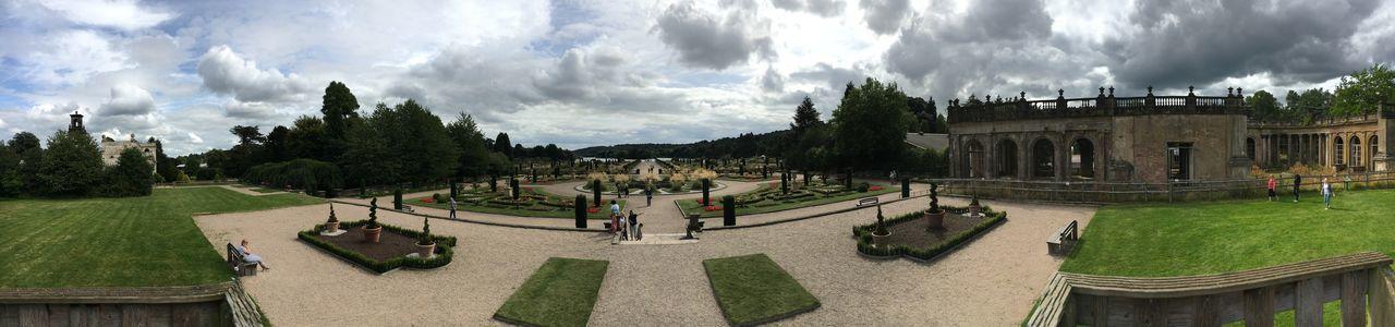The beautiful Trentham Gardens Building Building Exterior Fountain Gardens History Panorama Panoramic Plants
