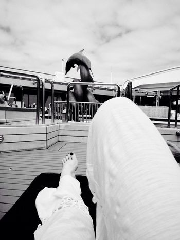 My Legs Cruise Ship Poolside Monochrome
