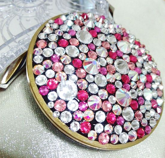 No People Indoors  Close-up Large Group Of Objects Luxury Precious Gem Swarovski Decoration Princess Pink Color Cute