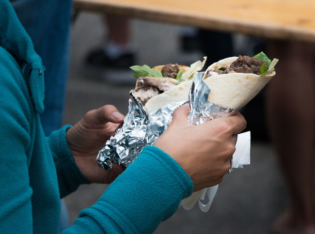 Street food outdoors at Stockholm Street Festival July 1, 2017 Food Food And Drink Human Hand Outdoors Ready-to-eat Real People Street Food Women Wrap
