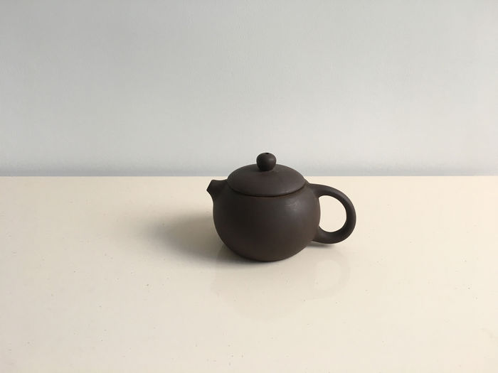 Teapot Still Life Drink White Background Hot Drink Tea Close-up Table Tea - Hot Drink Purple-clay