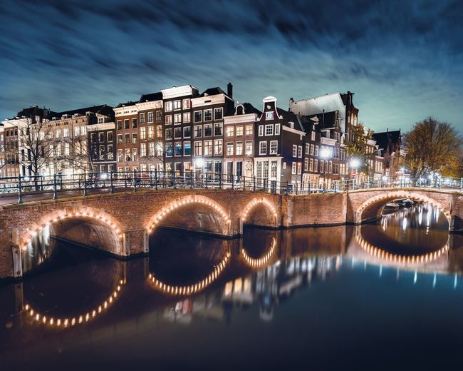 Amsterdam canals Amsterdam Architecture Water Reflection Night River Bridge - Man Made Structure Canal Canals And Waterways Holland Netherlands Nederland City Lights City Lights At Night Dutch EyeEmNewHere