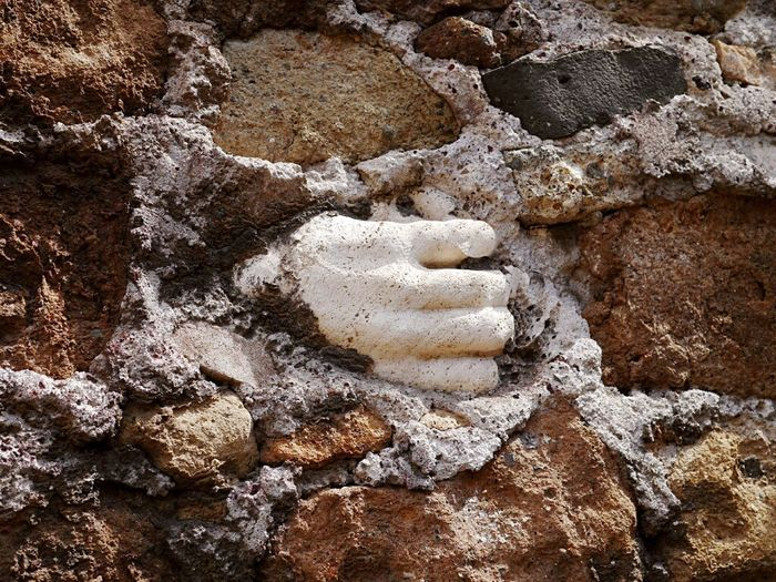 Full Frame Backgrounds No People Beach Day Sand Textured  Rock - Object Outdoors Close-up Nature Hand Hand Sculputre Sfoglia Rome