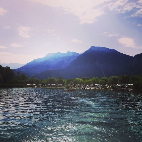 Mountain Water Beauty In Nature Nature Scenics Mountain Range Tranquil Scene Sky Lake Tranquility Waterfront Outdoors No People Day