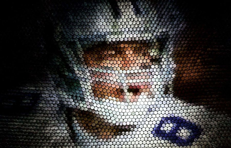 Close-up Pixelated Abstract Multi Colored Art Pattern Experimental Circles Of Confusion In Camera Manipulation Circles Illuminated Textured  The Week On EyeEm Strawcamera Dallas Cowboys Portrait