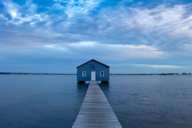 Architecture Built Structure Cloud - Sky Sky Water Building Exterior Building Beauty In Nature No People Tranquil Scene Nature Sea Tranquility Scenics - Nature House Pier Waterfront Day Outdoors Perth