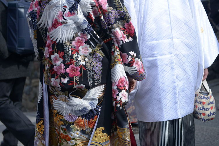 Adult Arts Culture And Entertainment Celebration Clothing Day Festival Floral Pattern Focus On Foreground Group Of People Holding Incidental People Kimono Leisure Activity Lifestyles Men Outdoors People Real People Standing Traditional Clothing Unrecognizable Person