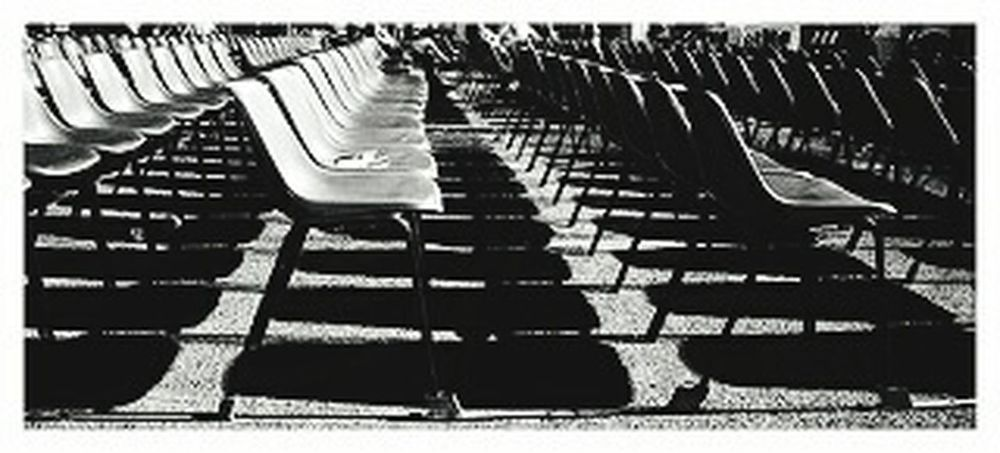 Empty Black And White Postiliberi Sedie Space Space Sit