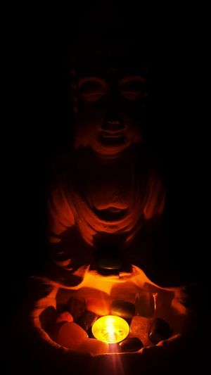 Statue Close-up Buddhism Energystones Indoors  Candle