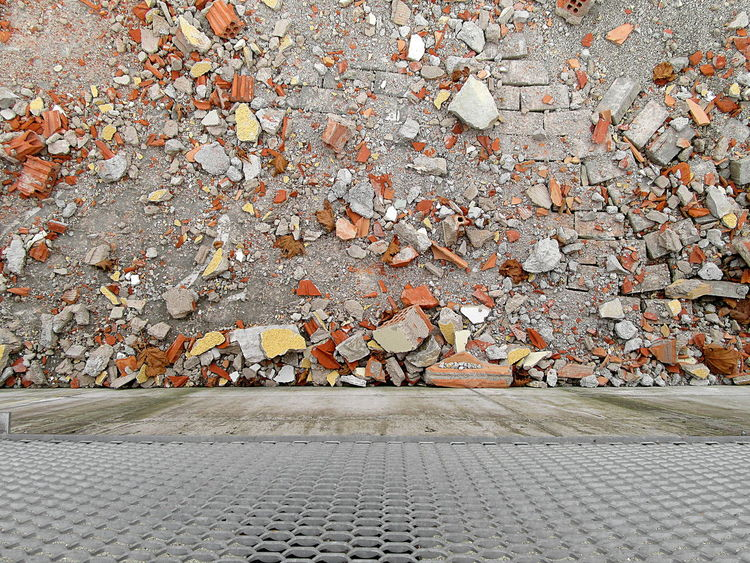 Rubbish on construction site ground ArchiTexture Backgrounds Close-up Construction Site Copy Space Day Debris Detritus Ground No People Outdoors Refuse Residue Rubbish Rubble Textured  Textures And Surfaces