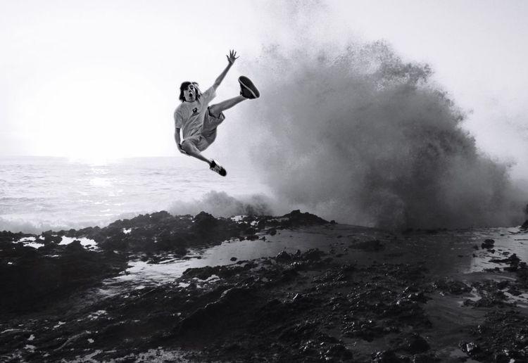 Q Quantum Leap Live life on the wild side! Jump Leap Leap Of Faith Showcase March Oceanspray Spray Crashing Waves  Joyful Jumpforjoy Extraordinary  Perfectshot Wild Wildside Youth Of Today Jubilant Danger Boy Nature Freedom California Dreaming SaraLeeMcKinstry The Portraitist - 2016 EyeEm Awards The Essence Of Summer California Dreamin