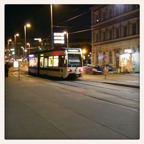 Karlsplatz Nachtaufnahme Public Transportation Öffentliche Verkehrsmittel Badner Bahn