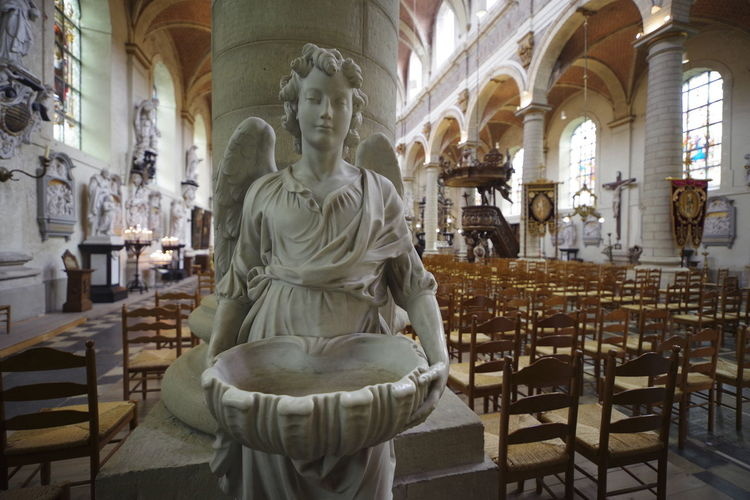 Church Holy Water Holy Holy Water Shell Religion Religious Architecture Sculpture Seats