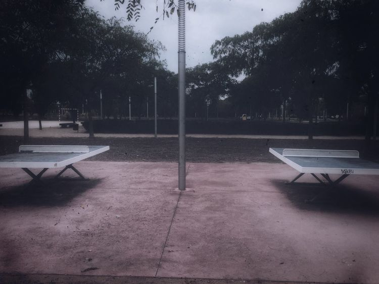 Absence Tranquil Scene Tranquility Playing Field Pingpong Empty Streetlight